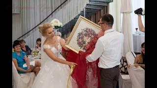"""Вышивка крестом: свадебная метрика  Дименшенс """"Венок из роз"""" 03837 Wreath of Roses Dimensions ПОДБОР"""