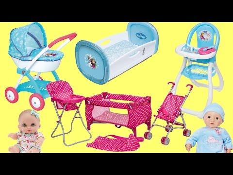 Baby Dolls Nursery Center Frozen Pram Dimple Playpen Baby Annabell Baby Born Lil Cutesise