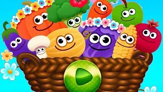 Learn Colors and Shapes Games for Baby - FUNNY FOOD 2! Kindergarten Kids Learning Games