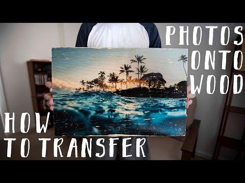 DIY How To Transfer Photos onto Wood Using Polycrylic
