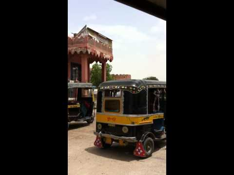 Traveling to the Fort by Tuk Tuk in Bikaner, Rajasthan, India