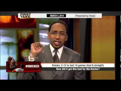 ESPN First Take : Stephen A. Smith Goes Off on New York Knicks