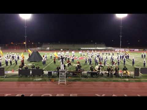 "Quartz Hill High School Marching Band 2017 Eastside field tournament performing ""Goddess of Fire"""