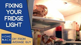 Repair fridge light (simple fix)