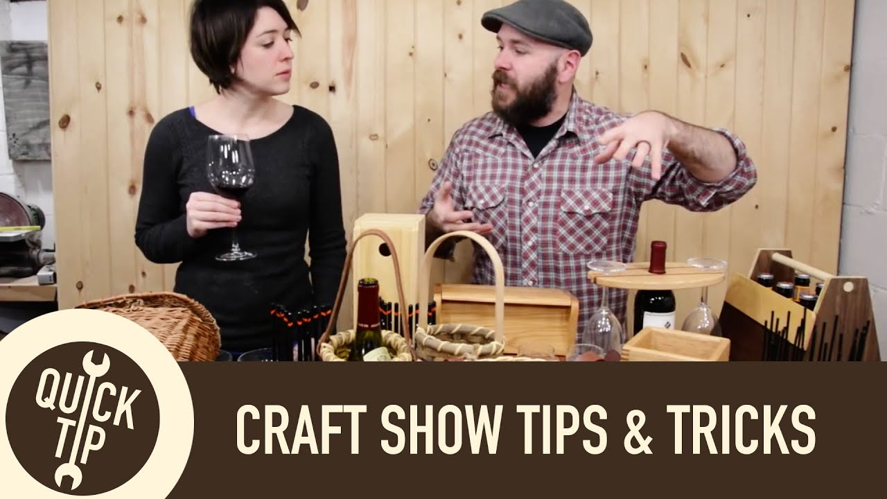 Craft show tips and tricks youtube for How to display wood signs at craft show