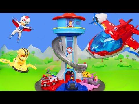 Paw Patrol Unboxing: Air Ryder, Chase, Feuerwehrmann Marshall & Rubble   Video für Kinder deutsch