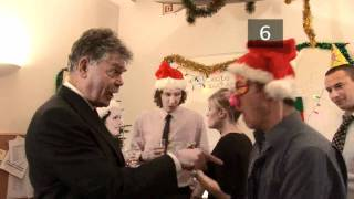 How To Behave At The Office Christmas Party VideoJug presents a guide on how to survive that inevitable Christmas ritual of the office party. We show you how to behave at the office Christmas party.