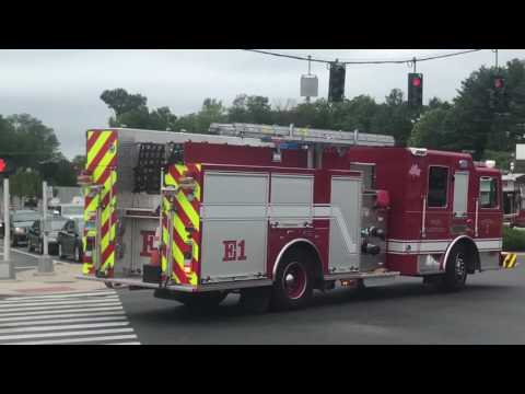 West Hartford Fire Department Quint 4, Engine 1 & AMR Responding!!!!