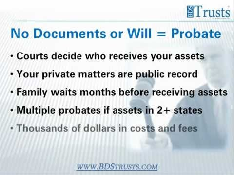 Why an Estate Plan - BDS Trusts