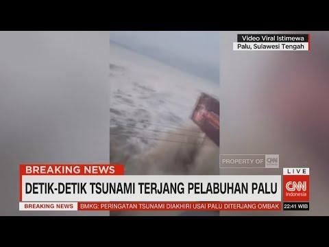 Detik-detik Tsunami Terjang Pelabuhan Palu