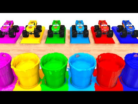 Thumbnail: LEARN COLORS with BIG MCQUEEN for Kids - 3D Cars Educational Video - Bus Superheroes for Babies