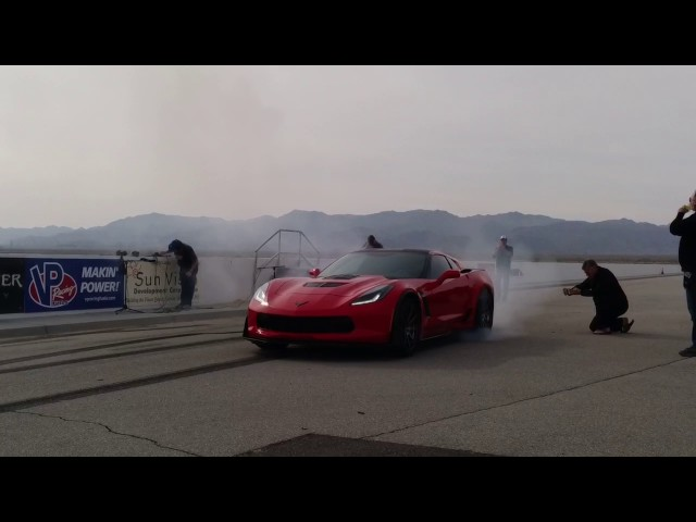 Callaway Corvette AeroWagen burnout