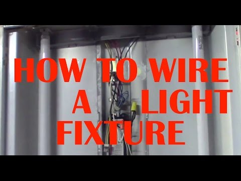 How to Wire A Fluorescent Light Fixture - YouTube