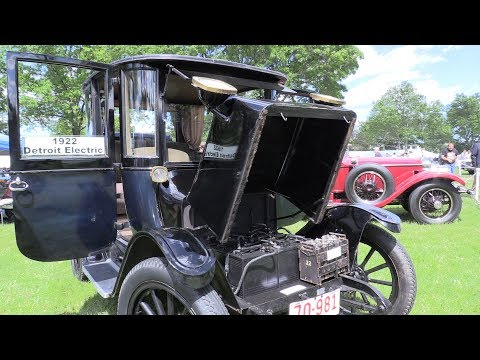 1922 Detroit Electric car at 2017 Greenwich Concours d'Elegance!