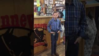 Mason Ramsey performing at McKinney's Western Store, LLC Rocking his new Durango Boots!!