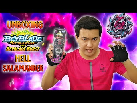 LOMPAT ! Hell Salamander .12.Op Booster (B-113) Unboxing & Review - Beyblade Burst Cho Z Turbo - 동영상
