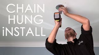 How to Install Chain Hung fixtures by Maxim Lighting