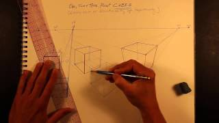 1 2 3 point perspective cubes