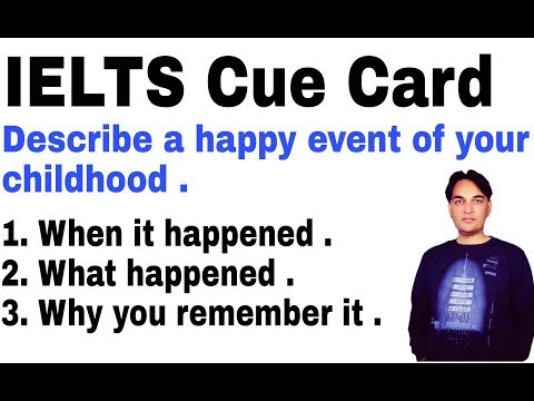 IELTS Cue Card-Describe a happy event of your childhood.