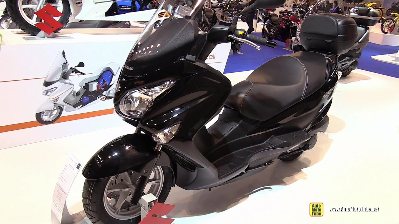 2015 suzuki burgman 125 scooter walkaround 2014 eicma. Black Bedroom Furniture Sets. Home Design Ideas