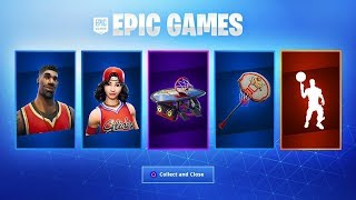 THE SKINS OF BASKET OF RETOUR IN THE FORTNITE BOUTIQUE - New SKIN HONOR! (FORTNITE X JORDAN)