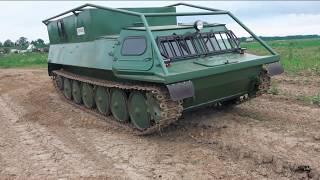 ГАЗ-73М (ГТСМ, ГТМУ) ''HUNTER'', 6 КАТКОВ + ПОДВЕСНОЙ ЛЕНИВЕЦ