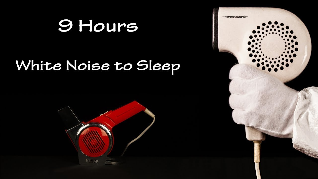 Hair Dryer Sound 33 and Static 5 | ASMR | 9 Hours White Noise to Sleep