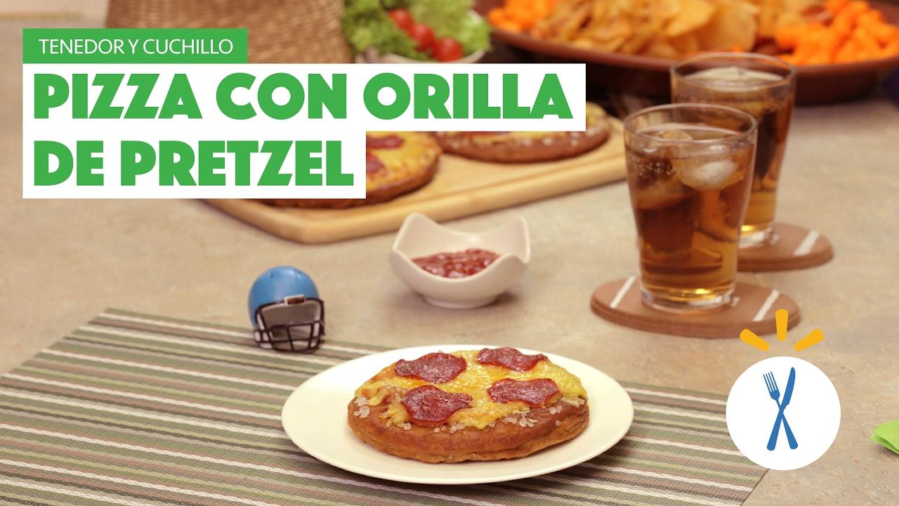 ¿Cómo preparar Pizza con Orilla de Pretzel? - Cocina Fresca