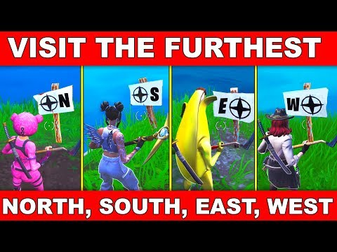 """""""VISIT THE FURTHEST NORTH, SOUTH, EAST and WEST POINTS OF THE ISLAND"""" ALL LOCATIONS FORTNITE WEEK 2"""