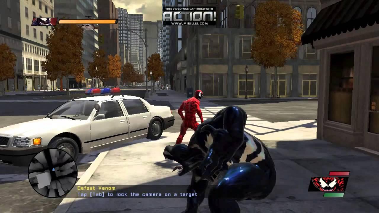 Spider Man Web Of Shadows Carnage Vs Venom - YouTube