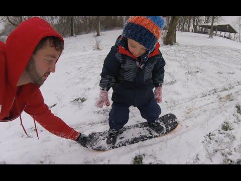 Father Son SnowSkating!!