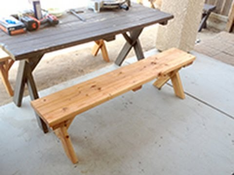 diy-home-made-picnic-table-bench-$12-$15
