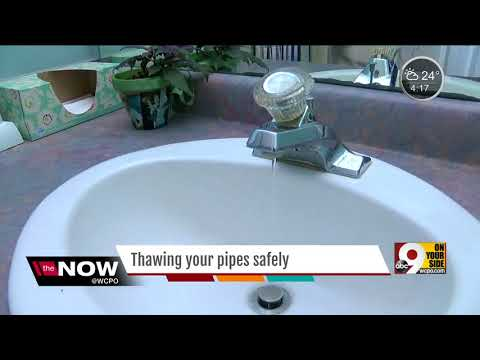 How you can safely thaw your frozen pipes