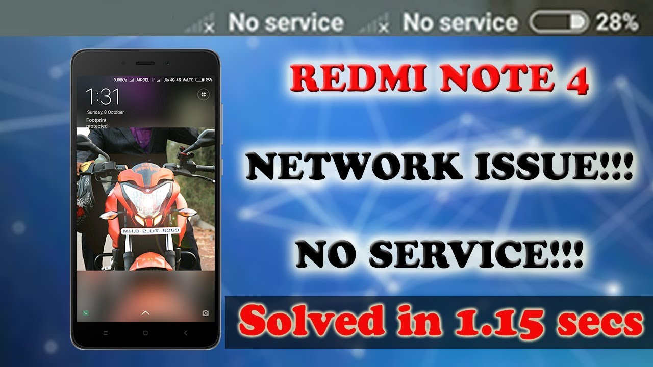 REDMI NOTE 4 | JIO NETWORK PROBLEM | SIMPLE