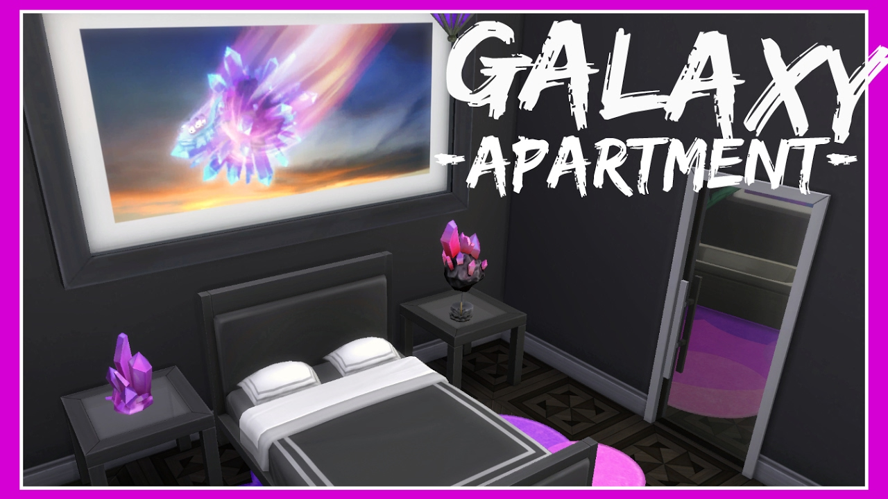 The Sims 4 Galaxy Space Crystal Apartment Speed Build