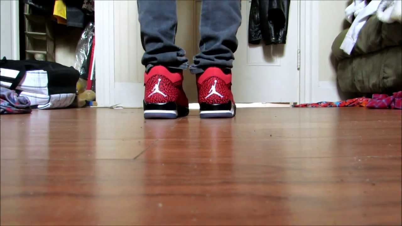 5372848f5dd8 JORDAN FLIGHT CLUB 80 s (ON FOOT) - YouTube
