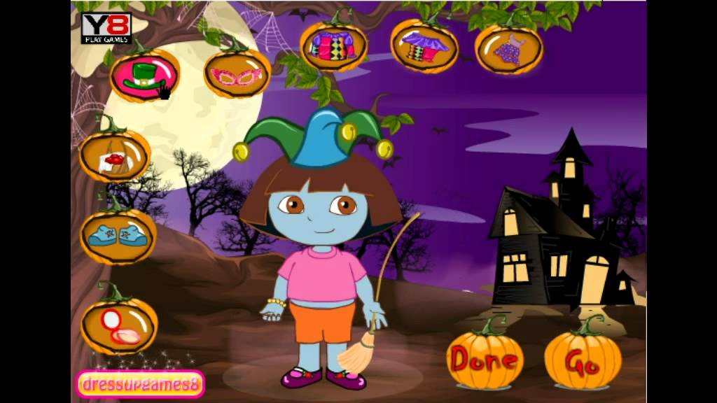 Dora Halloween Games - Y8.com Online Games by Malditha - YouTube