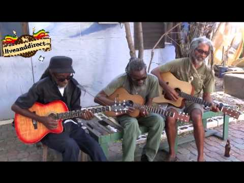 """BILLY MYSTIC """"MYSTIC REVEALERS"""" ACOUSTIC SESSION IN BULL BAY JAMAICA 2 fevrier 2014"""