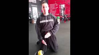 How to roll hip flexors