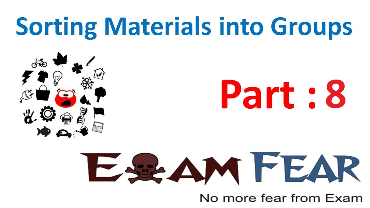 chemistry sorting materials into groups part 8 transparent