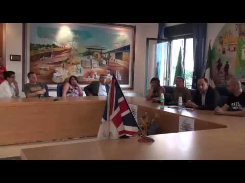 Tommy Beardmore incontra i cittadini di Coreno Ausonio