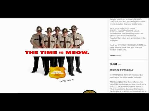 Help Fund Super Troopers 2, Great Swag Perks