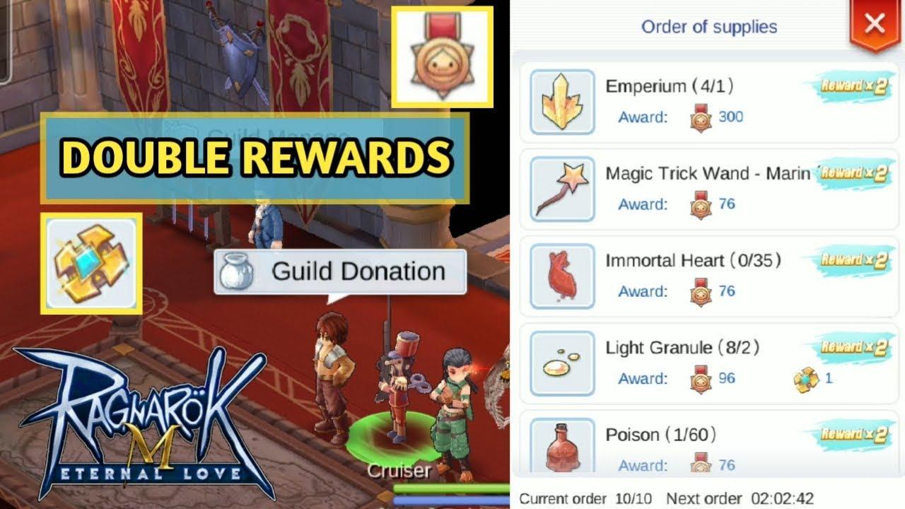 Guild Donation Double Rewards Event - Ragnarok M Eternal Love
