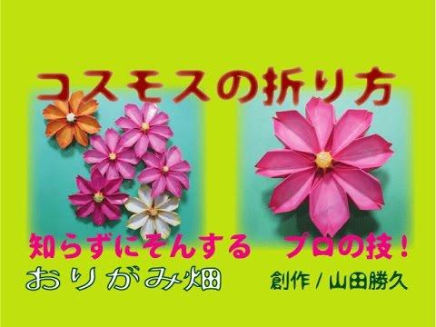 ハート 折り紙:コスモス 折り紙 立体-youtube.com