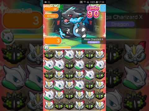 Pokemon Shuffle Mobile Mega Charizard X Competitive Stage『ポケとる スマホ版』メガリザードンX「ランキングステージ」01/2019