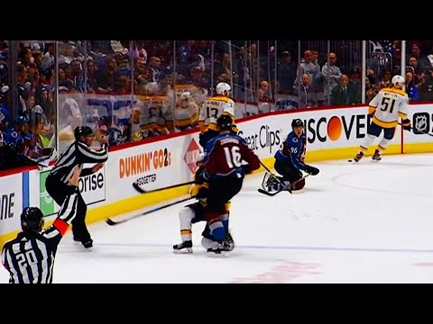 Zadorov hits down-and-out Ellis & receives 10-min misconduct