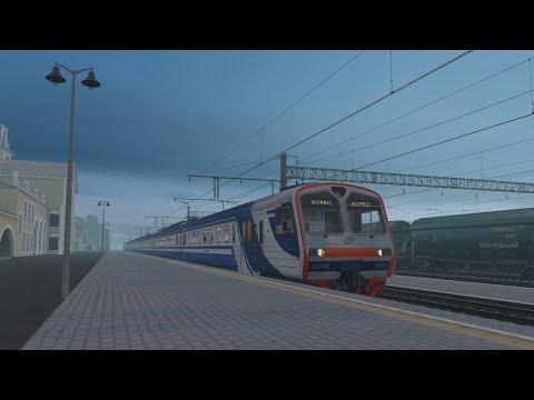 "Trainz19 ЭД4мк-0078 ""Дождь и туман""."