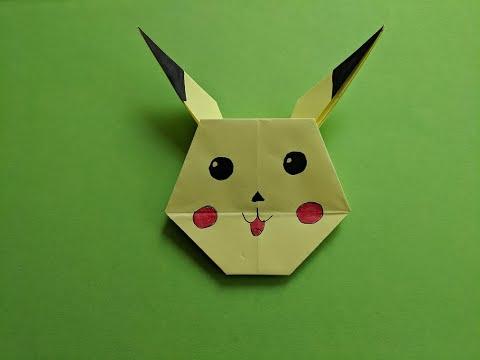 Как сделать пикачу оригами из бумаги. Origami Paper Pikachu DIY