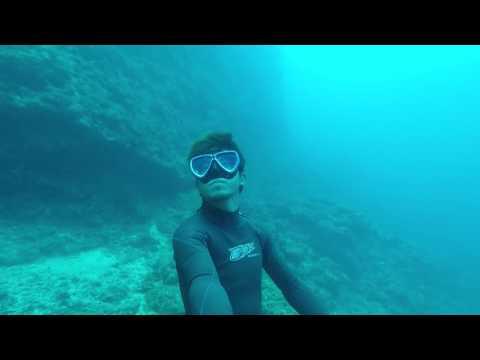 沖縄で素潜り  水深30メートルの世界