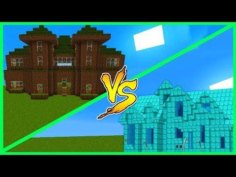 Minecraft Diamond House VS Dirt House - WHO WINS?